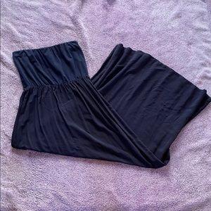 GAP Strapless Maxi Dress Navy Blue Small